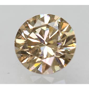 Cert 0.72 カラット ファンシー ブラウン VVS2 ラウンド ブリリアント ナチュラル ルーズ ダイヤモンド 5.74mm