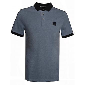 Hugo Boss Casual Hugo Boss Men's grau/blau PJeans Polo Shirt