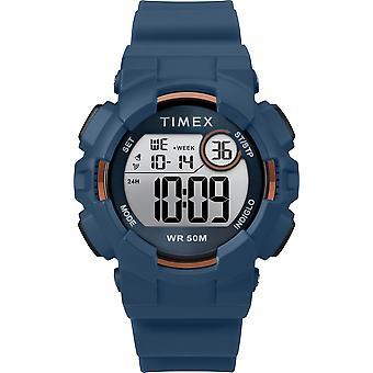 TW5M23500, Timex TW5M23500 Mako DGTL 44mm Montre à sangle en silicone bleu