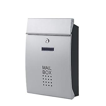 Wall Mounted Vertical Locking Drop Mailbox - Front Porch Residential Outdoor For Postal Service Garden Apartment