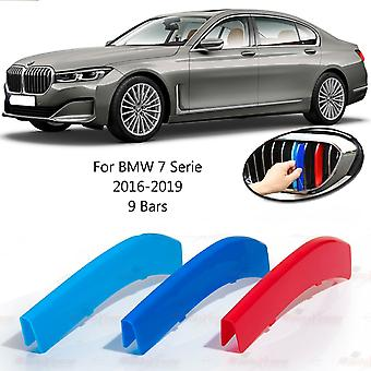 BMW 7 Serie 2016-2019 9 Bars Clip In Grill M Power Kidney Stripes Cover