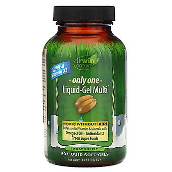 Irwin Naturals, Only One, Liquid-Gel Multi, Without Iron, 60 Liquid Soft-Gels