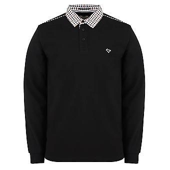 Weekend Offender Bentvena Long Sleeve Polo Top - Black