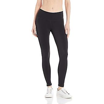 Essentials Women's Performance Mid-Rise 7/8 Pituus Aktiivinen Legging, Musta, Suuri