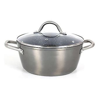 Casserole with glass lid Quttin Toughened aluminium Grey 20cm