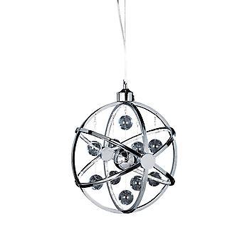 Endon Muni - Spherical Ceiling Pendant Light Chrome Glass Balls