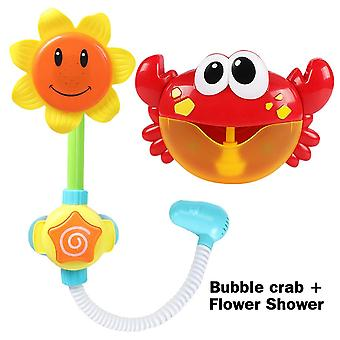 Outdoor Bubble Frog&crabs Baby Bath Toy - Bubble Maker Swimming Bathtub Soap Machine Toys For Children With Music Water Toy