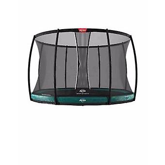 berg elite inground green trampoline 430 14ft + safety net deluxe