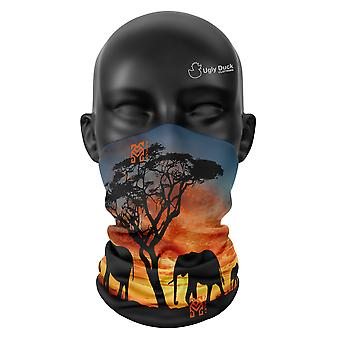 African Suns Colours Snood Face Mask Scarf Neckerchief Head Covering Tube Buff