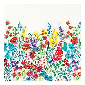Meadow Floral Paper Napkins x 20 Party Tableware