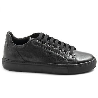 Brecos férfi csipke-up alkalmi cipő fekete bőr