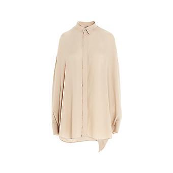 Balenciaga 642258tjo579610 Damen's Beige Viskose Shirt