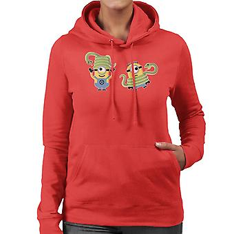 Despicable Me Minions With Snakes Women's Hooded Sweatshirt