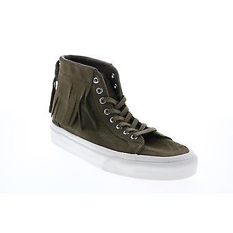 Vans Sk8 Hi Moc  Mens Green Suede Skate Sneakers Shoes