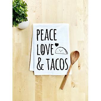 Peace, Love & Tacos Dish Towel