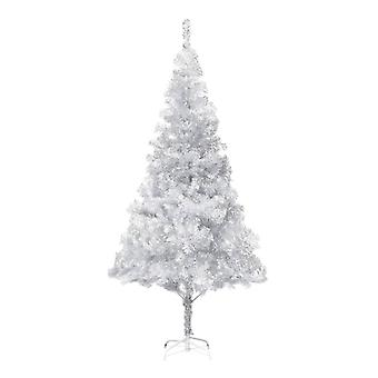 vidaXL شجرة عيد الميلاد الاصطناعي مع حامل الفضة 180 سم PET
