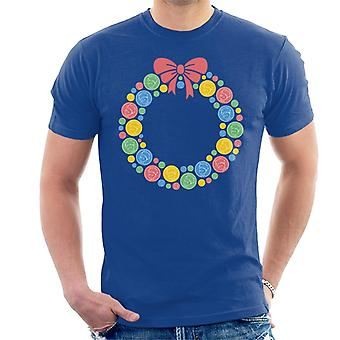 The Little Prince Christmas Festive Wreath Men's T-Shirt