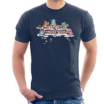 Pflege Bären Weihnachten Frohe Weihnachten Candy Cane Männer's T-Shirt