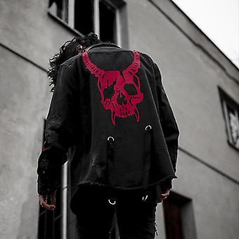 Gothic Demon Design, Printed Street Wear Jacket