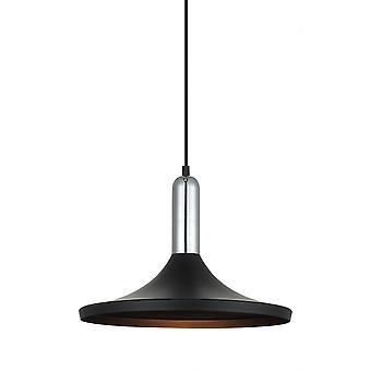 Moderne hangende hanghanger Zwart 1 Licht, E27