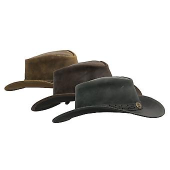 Walker and Hawkes - Leather Cowhide Outback Antique Hat