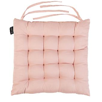 Pink Pack of 1 Square Dining Chair Seat Pad Tufted Cotton Cushion