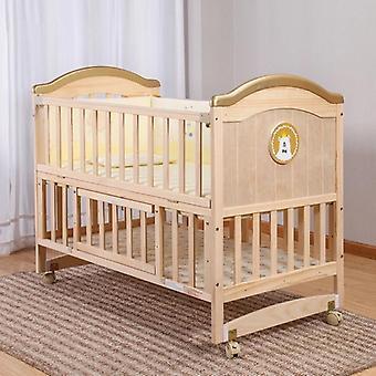 Pătuț din lemn masiv Nevopsit Baby Bb /leagăn Pat multifuncțional copil nou-născut