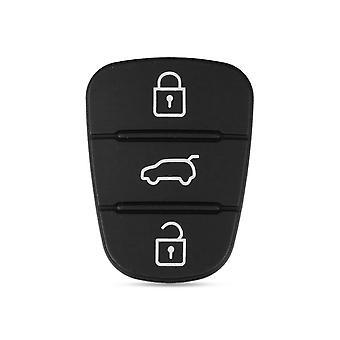 3-knops afstandsbedieningssleutel Fob Case Rubber Pad Voor Hyundai I10 I20 I30 Ix35 & Kia K2