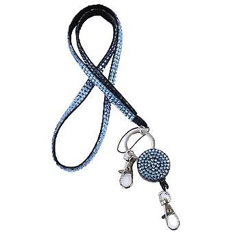 5buc Reglabil Lanyard pentru ID Insigna Titular Office Gât lanyards Albastru