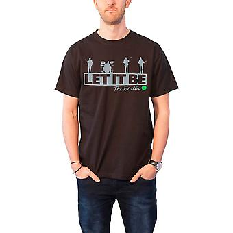The Beatles T Shirt let it Be Rooftop band logo new Official Mens Black