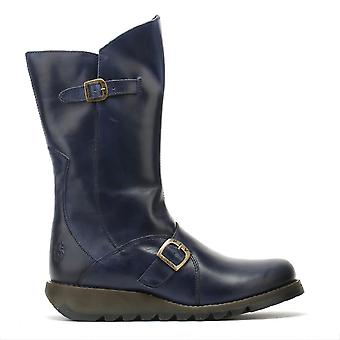 Fly London Womens Blue Mes 2 Rug Boots