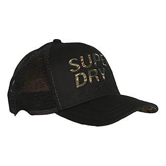 Superdry Lineman Trucker Cap - Black