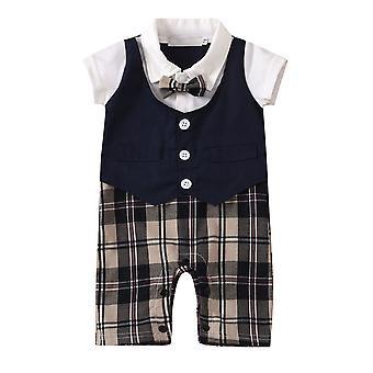 Baby Boys Romper Tux edo Tulum Resmi Bowtie Gentleman Kıyafet