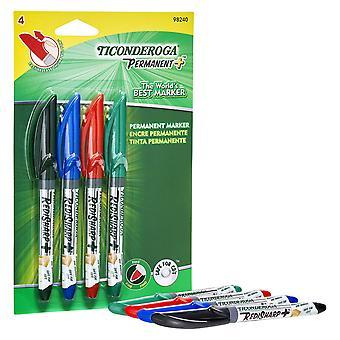 Redisharp+ Fine Point Permanent Markers, 4-Color Set