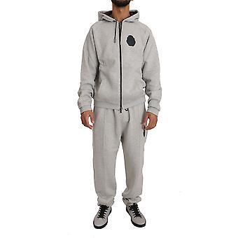 Gray cotton sweater pants tracksuit  set