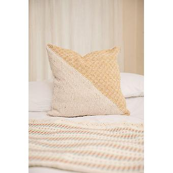 Diagonal Basic Pitaya Yellow + Cream Pillow