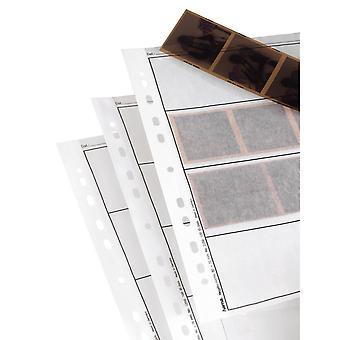 Hama 2259 mâneci de stocare a fișierelor negative, fiecare ținând 4 benzi de 6 x 7 cm sau 6 x 9cm rame, glassi
