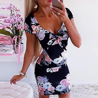 Ženy Boho Bodycon krátké mini šaty sexy elegantní dámy letní pláž letní šaty