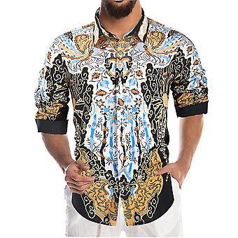 يانغفان الرجال & apos;ق قميص مطبوع عارضة