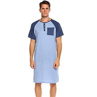 Vêtements de nuit Long Nightshirt Short Sleeve Nightwear Comfortable Loose Homewear