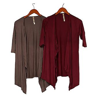 Rhonda Shear Mujeres's Suéter 2 Pack AHH Wrap Brown / Púrpura 633-471