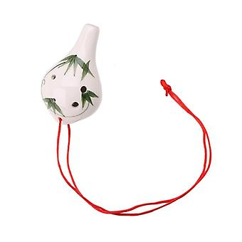 Professionele 6 Hole Ocarina Keramische Alto Ac Key Fluit Muziekinstrument