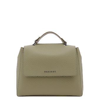 Orciani B01999softkaki Women's Green Leather Handbag