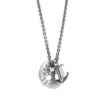 ANCHOR & CREW Lerwick Pulley Silver Necklace Pendant