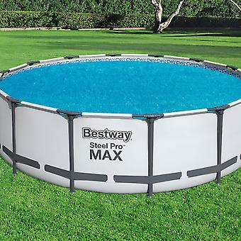 Bestway Flowclear Above Ground Fast Set 14ft Solar Swimming Pool Cover