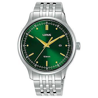 Lorus Mens | Green Sunray Dial | Stainless Steel Bracelet RH907NX9 Watch