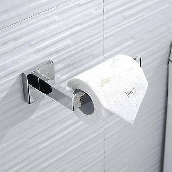 Set hardware bagno in acciaio inossidabile, incluso rotolo di carta e spazzola per wc