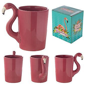 Cara de flamingo rosa funky caneca de cerâmica