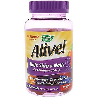 Nature's Way Alive Hair Skin & Nails with Collagen 60 Gummies