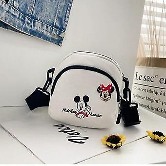 Disney Cartoon Mickey Mouse Canvas Small Bag, Diagonal Wild Student Shoulder